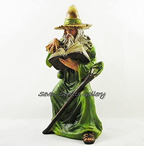 Woodland Wizard | Wizards Magic | Green Forest Figure Statue Figurine Ornament