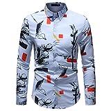 Binggong Herren Shirt, Sommer schöne Junge Männer Förderung Nicht-Headstream Einfache glamouröse Hell Sauber Vielseitige Mode Schlank lässig Geschäfts Traum Mode Langärmelige T-Shirt Grundlegende