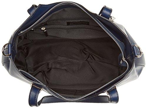 Chicca Borse 80046, Borsa a Tracolla Donna, 40x33x14 cm (W x H x L) Blu