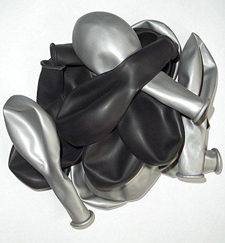 100Negro de plata de Metallic Colores de aire de globos brillante de metal de Deco de fiesta de cumpleaños de Fete De Helio de Adecuado Europea Ware