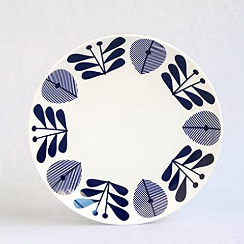 The plate plate plate ceramic tableware creative Western-style food steak dessert plate dish,B 5 inches (diameter