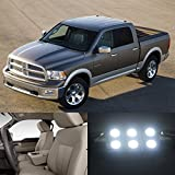 Partsam 2009-2012 Dodge Ram 1500 White Light Bulbs Interior Led Package (7 Pieces) by Partsam