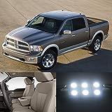 Appliances Packages Beste Deals - Partsam 2009-2012 Dodge Ram 1500 White Light Bulbs Interior Led Package (7 Pieces) by Partsam