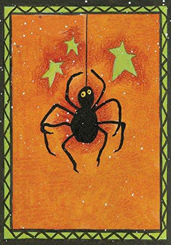 nte Spinne 71 x 102 cm Dekorative rustikale Halloween-Flagge orange gruselige Sterne Haus Flagge ()