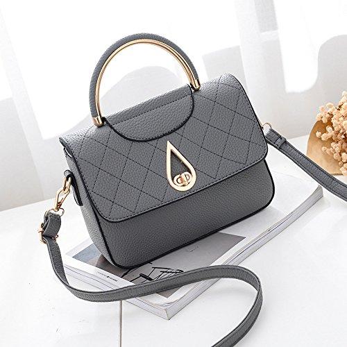 Meoaeo Koreanische Frauen Kleine Tasche Handtasche Schultertasche Schultertasche All-Match Dark grey