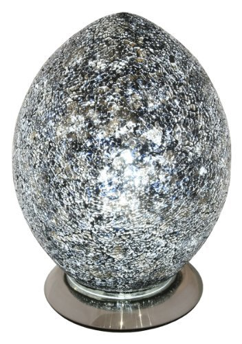 Mosaic Egg Lamp, Glass, Black, Medium