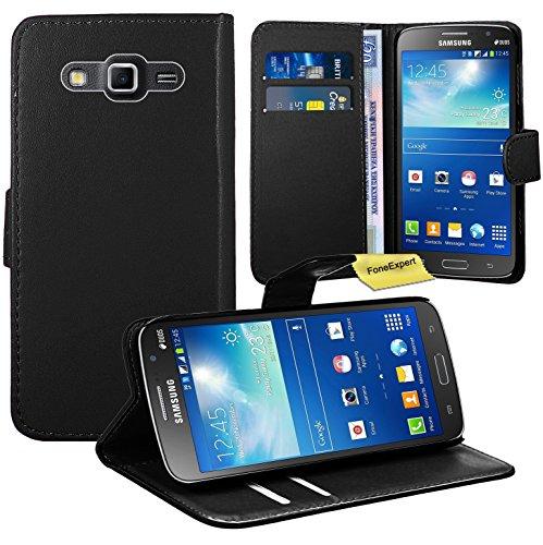 FoneExpert® Samsung Galaxy Grand 2 G7102 Handy Tasche, Wallet Case Flip Cover Hüllen Etui Ledertasche Lederhülle Premium Schutzhülle für Samsung Galaxy Grand 2 G7102