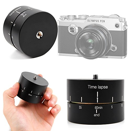 DURAGADGET Base Para Trípode Para Cámara Panasonic Lumix DMC GF7 | Lumix DMC-TZ70EB-S | Lumix DMC-TZ70EG-K - Rotador Panorámico 360° + Gamuza - 60 Min