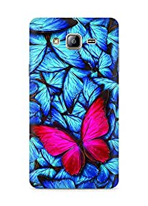 Amez designer printed 3d premium high quality back case cover for Samsung Galaxy ON5 (Beautiful lot of different butterflys)