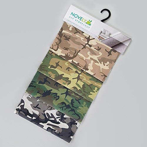 novely® Musterfächer Möbelstoffe Bezugsstoffe Kunstleder Oxford Outdoorstoffe (40 novely MOOS) (Möbelstoff Camouflage)