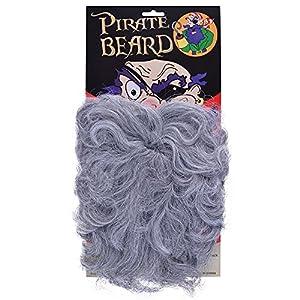 NEW GREY BEARD WAVY STYLE PIRATE FANCY DRESS (disfraz)