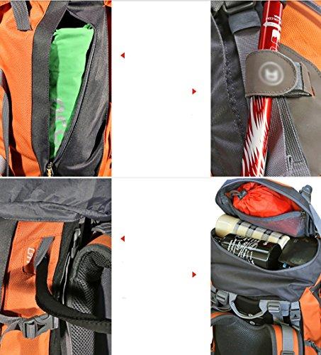 zaino trekking Maschio / femmina 60L / 70L / 80L Escursione Outdoor Borsa da spalla Tempo libero Sport Borsa da montagna Zaini da escursionismo ( Colore : N-80L-30*18*70cm ) A-60L-25*30*78CM