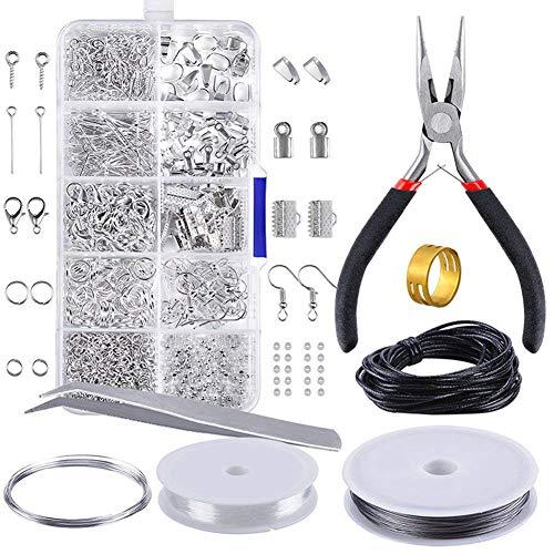 Queta creazione di gioielli kit di gioielli perline produzione e riparazione kit di attrezzi pinze wire starter tool creazione di gioielli