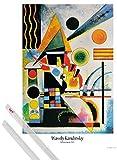 1art1 Poster + Hanger: Wassily Kandinsky Poster (91x61 cm) Balancement, 1925 Inklusive EIN Paar Posterleisten, Transparent