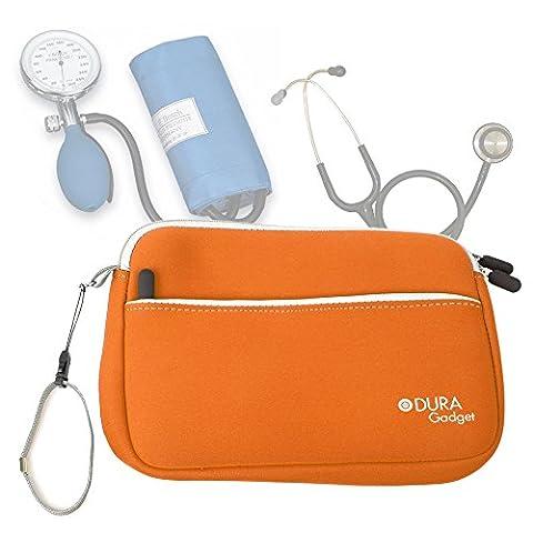 Trousse d'infirmière en orange pour transporter vos accessoires médicaux (tensiomètre,