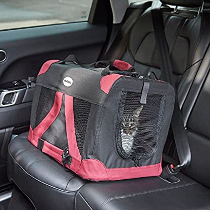 MILO & MISTY Fabric Pet Carrier - Lightweight Folding Travel Seat for Dogs, Cats, Puppies - Made of Waterproof Nylon and… 4
