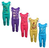 #8: Eazy Trendz Baby Girls Gorgeouse Printed Half Sleeve Top & Bottom Tshirt and Pant Super Set of 5