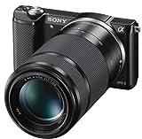 Sony Alpha 5000 Systemkamera (Full HD, 20 Megapixel, Exmor APS-C HD CMOS Sensor, 7,6 cm (3 Zoll) Schwenkdisplay) schwarz inkl.  SEL-P1650 & SEL-55210 Objektiv - 2