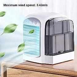 WSN Climatiseur Froid,Courroie humidificateur Personnel avec purificateur d'air USB 4 en 1 pour Bureau à Domicile,Pink