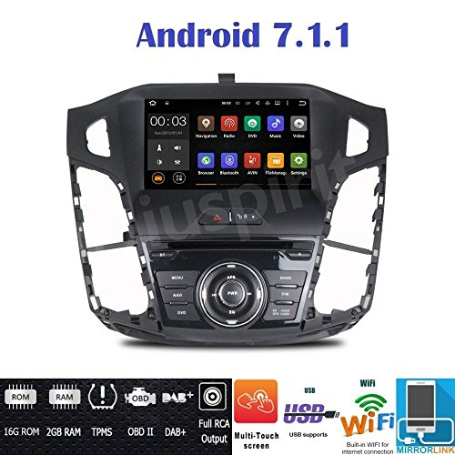Android 7.1 4 g LTE GPS USB SD DVD WLAN Bluetooth Autoradio Navi Ford Focus 2011, 2012, 2013, 2014, 2015