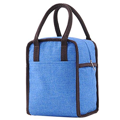 Borsetta porta pranzo termica pranzo borse borsa alimenti lunchbox per scuola e ufficio borsa termica (nero)