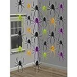 Hängende Spinnen Girlande Spinnen 11 x 12 cm, Bandlänge 213 cm Halloween Deko Girlanden Raumdeko Raumdekoration Gruseldeko