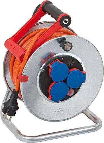 Brennenstuhl Garant S IP44 Kabeltrommel (25m Kabel in orange, Stahlblech, Einsatz im Außenbereich)