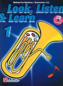 Look, Listen & Learn (Method for Baritone/Euphonium Treble Clef) Book 1