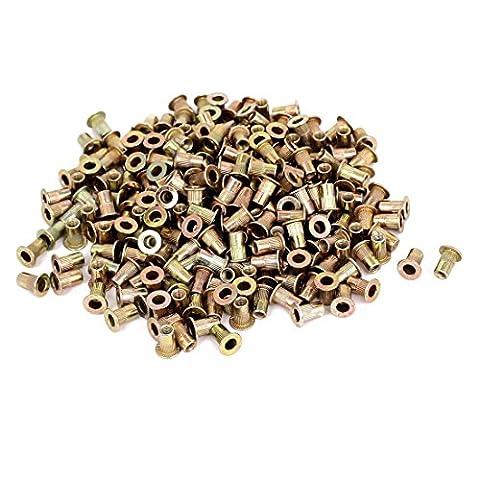 Rivet Nuts - TOOGOO(R) M3x9mm Knurled Body Flat Head Blind