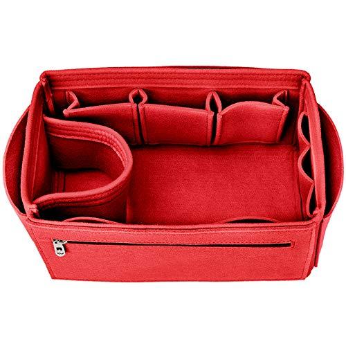 Felt Insert Handbag Organiser, Bag in Bag, XX-Large, Red
