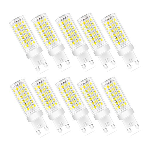 Lampadina LED G9 9W, Equivalenti a 70W, SMD 2835 LED, Lampade a Risparmio Energetico,G9 LED Bianca Fredda 6000K, AC 220-240V, 700 Lumen, Non Dimmerabile, Pacco da 10