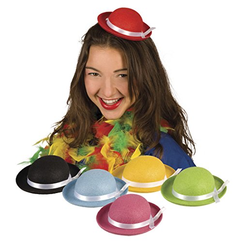 erdbeerclown - Karneval Kostüm Fascinator Hut Kinder, (Clown Neon Hut)