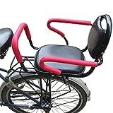 YXZN Fahrradsitz Kinder Hinten Armlehne Abnehmbare TragfäHigkeit 45kg mit Dickem Sicherheitsgurt