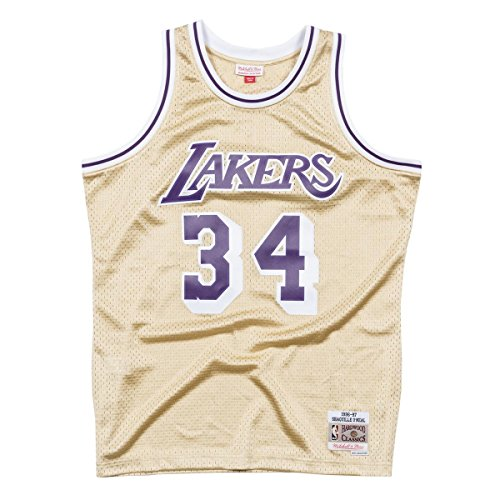 Mitchell & Ness NBA Los Angeles Lakers Shaquille O'Neal 1996–97Swingman Jersey Gold Large Jaune