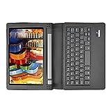 MP power @ Funda Carcasa Caso con QWERTY teclado inalambrico Bluetooth desmontable para Lenovo Yoga Tablet 3 Tab 3 10