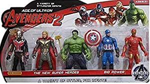 FunkeyTM Avengers Toys Set - Infinity War 5 Action Hero Collection 4.5 Inches (Multicolour)