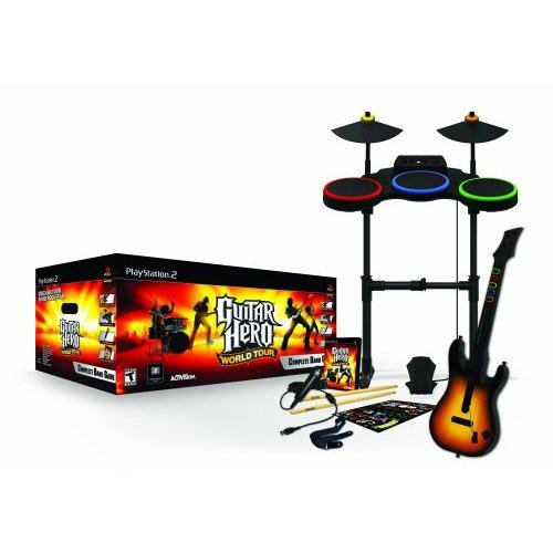 Guitar Hero: World Tour - Complete Band Pack (Ps2 Video Game Bundle)