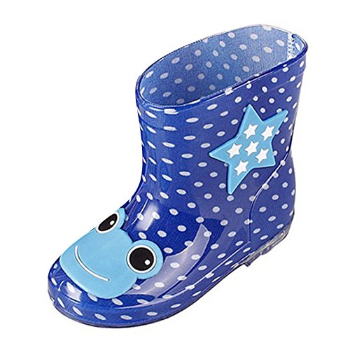 Hibote Unisex Regenstiefel Kinder Gummistiefel - Mädchen Jungen Anti-Rutsch Rain Boots 24