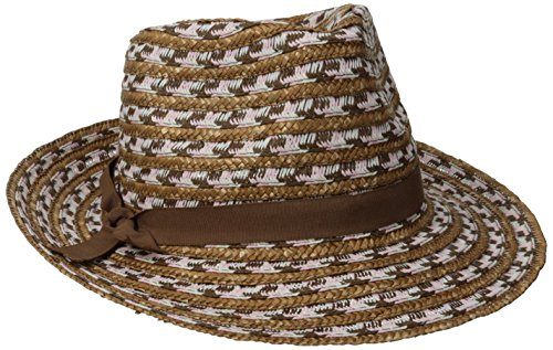 physician-endorsed-womens-cypress-tri-color-packable-straw-fedora-hat-rated-upf-50-mixed-toast-one-s