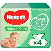 Huggies Natural Care Wipes 4 x 64 por paquete