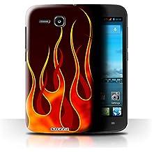 Stuff4 Hülle / Hülle für Huawei Ascend Y600 / Rot/Orange Muster / Flamme Lackierung Kollektion