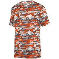 Augusta Sportswear Boys' Mod Camo Wicking Tee M Orange Mod