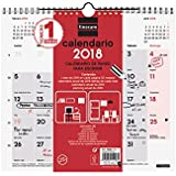 Finocam 780060018 - Calendario de pared para escribir 2018 español, 265 x 245 mm