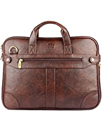 The Clownfish Royal Synthetic Leather Laptop Briefcase - | Laptop Bag | Messenger Bag with 365 Days Warranty