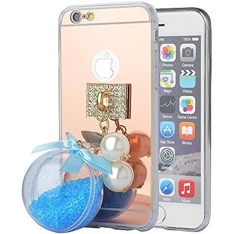 'Spritech (TM) fahion Cellulare, Oro a Specchio morbida per smartphone con una bella Sabbia Ciondolo Accessary - Pulsanti Turtle