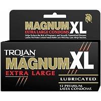 Trojan Magnum XL Kondome, extragroß, mit Gleitmittel, 12Stück preisvergleich bei billige-tabletten.eu