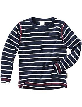 wellyou, Baby Langarm-Shirt, dunkel-blau weiß gestreift, Kinder Longsleeve geringelt, für Jungen und Mädchen,...