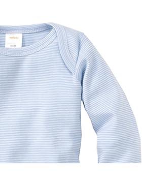 wellyou, 2er Set Kinder Baby-Body Langarm-Body, hell-blau weiß gestreift, geringelt, für Jungen und Mädchen, Feinripp...