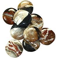 budawi® - Sardonyx Scheibensteine ca. Ø 35 mm Handschmeichler, Daumensteine preisvergleich bei billige-tabletten.eu