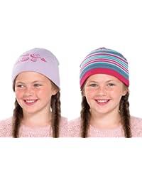 Filles Lot de 2Bonnet en tricot chapeaux gl079-available en deux couleurs.